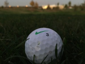 Nike PD Soft Golfball als Referenz